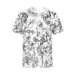 Doodle Allover Sublimated T-Shirt