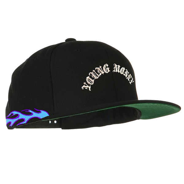 Blue Flamethrower Snapback Hat  ee4f106fffd