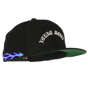 Blue Flamethrower Snapback Hat