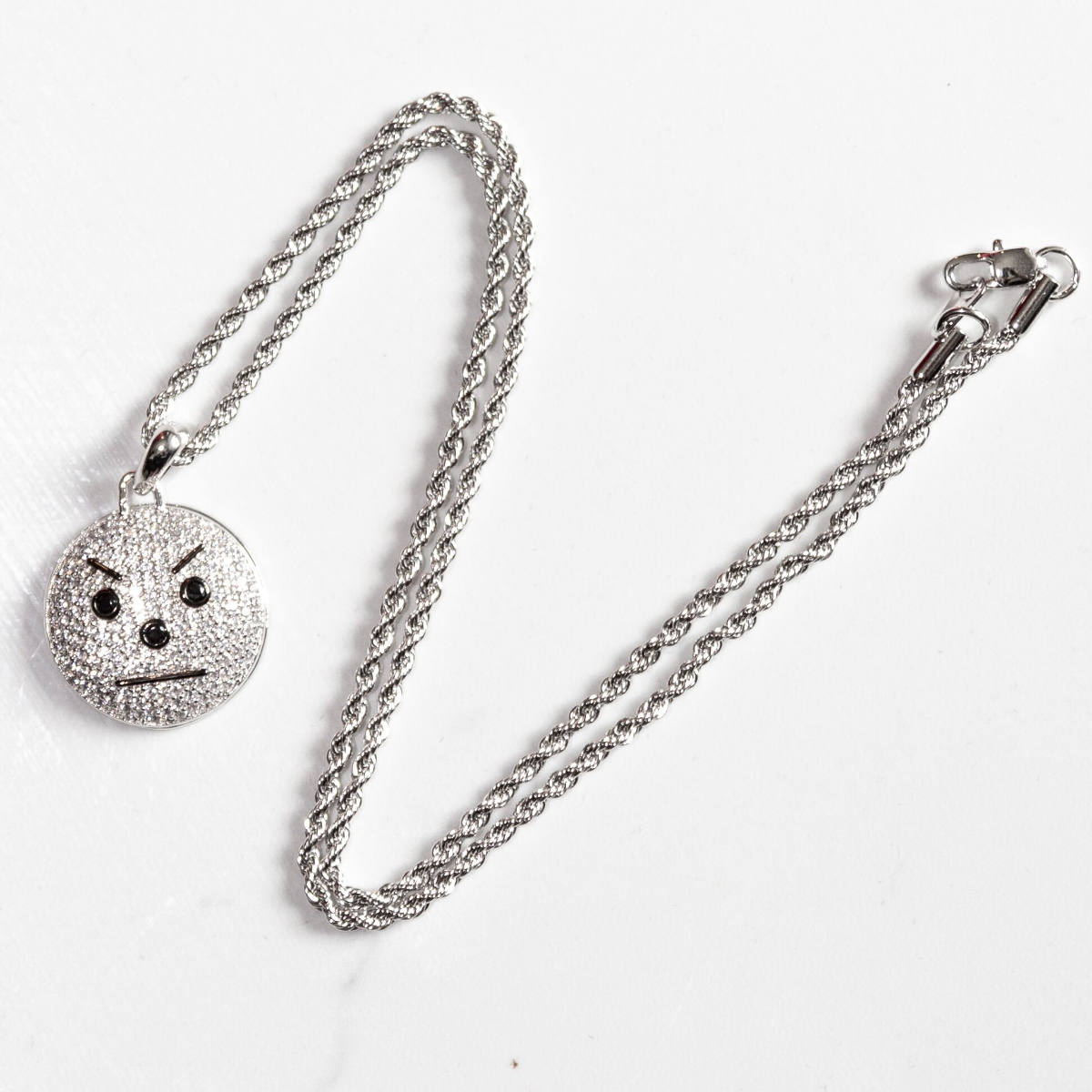 Snowman Emoji Pendant and Chain (White Gold) & TM104 Album Download Bundle