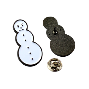 Snowman Enamel Pin