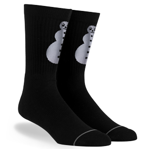 Snowman Black Socks