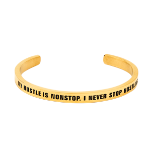 Hustle Yellow Gold Bracelet