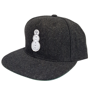 Snowman Melton Wool Snapback [Charcoal]