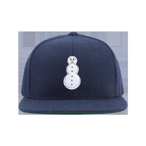 Snowman Melton Wool Snapback - Navy
