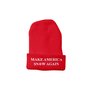 Make America Snow Again Beanie [Red]