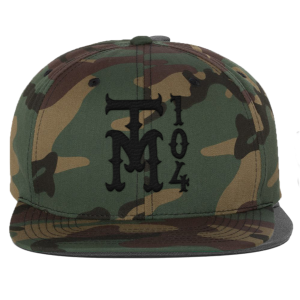 TM104 Camo Snapback, Snowman Enamel Pin & TM104 Digital Download
