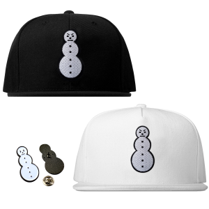 Classic Snowman Snapback, Snowman Pin & TM104 Digital Download