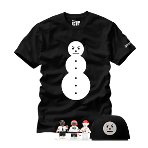 Snowman Tee + Snowman Hat + All Three Minifigures