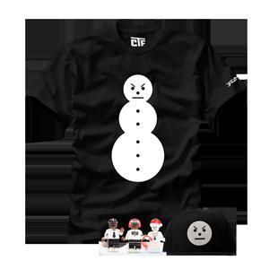 Snowman Tee + Snowman Hat + All Three Minifigures