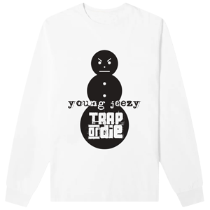 Trap Or Die Long Sleeve Tee (White)