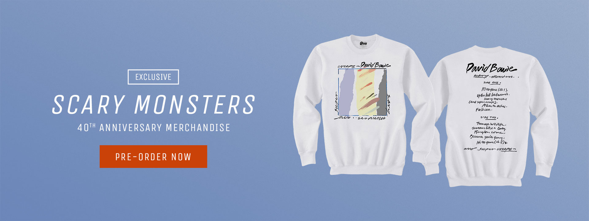 Exclusive Scary Monsters Anniversary Merchandise