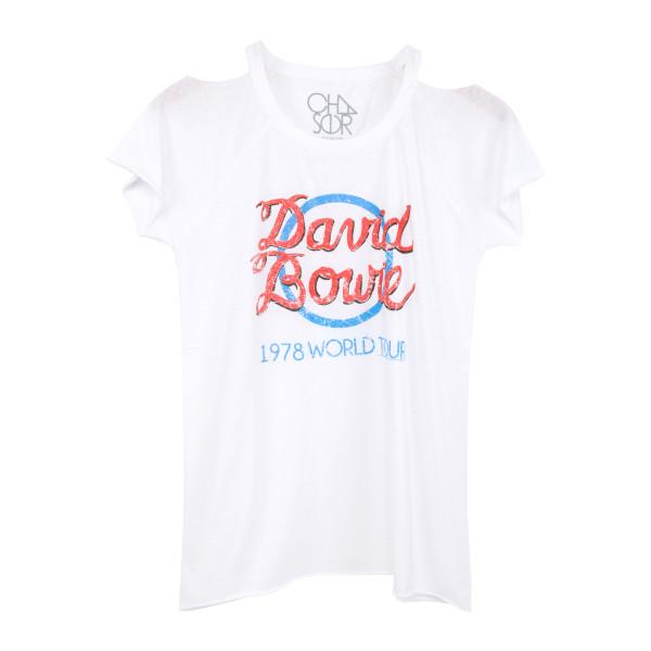 Bowie Blue Circle White T-Shirt