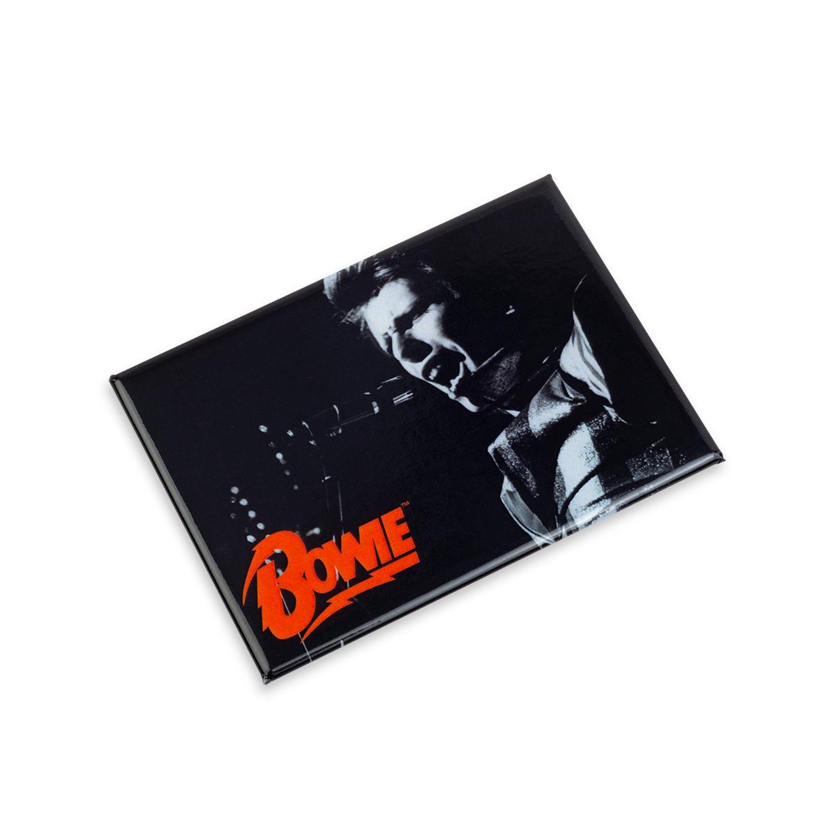 David Bowie B&W Sing Magnet