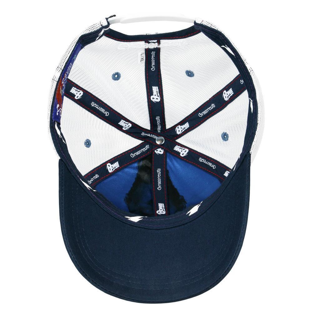 David Bowie Script Mesh Snapback Hat