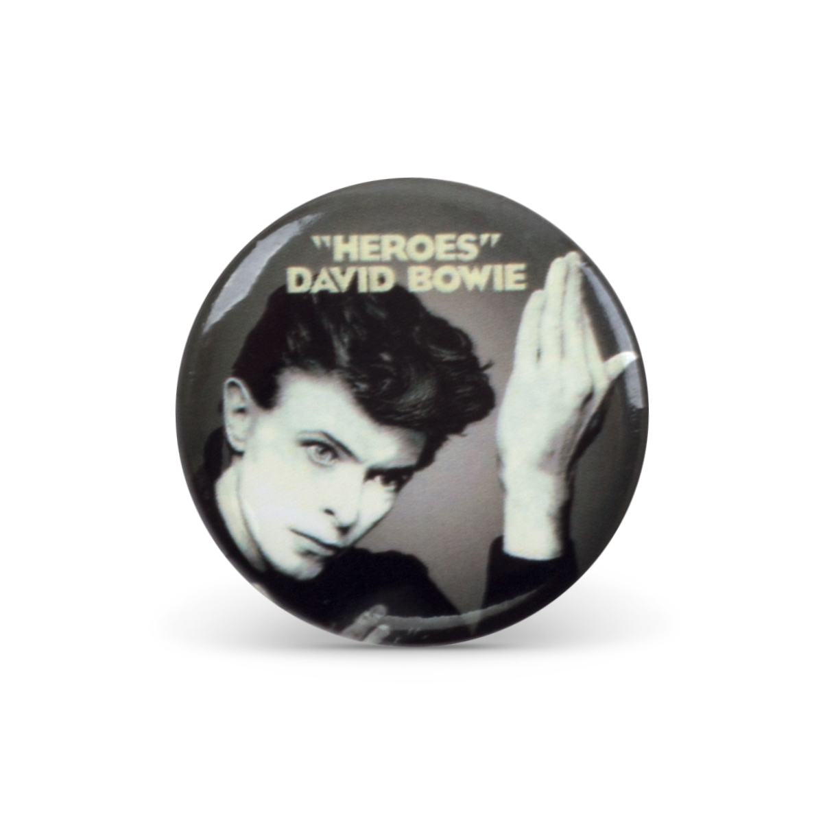 Bowie Heroes Button Pin