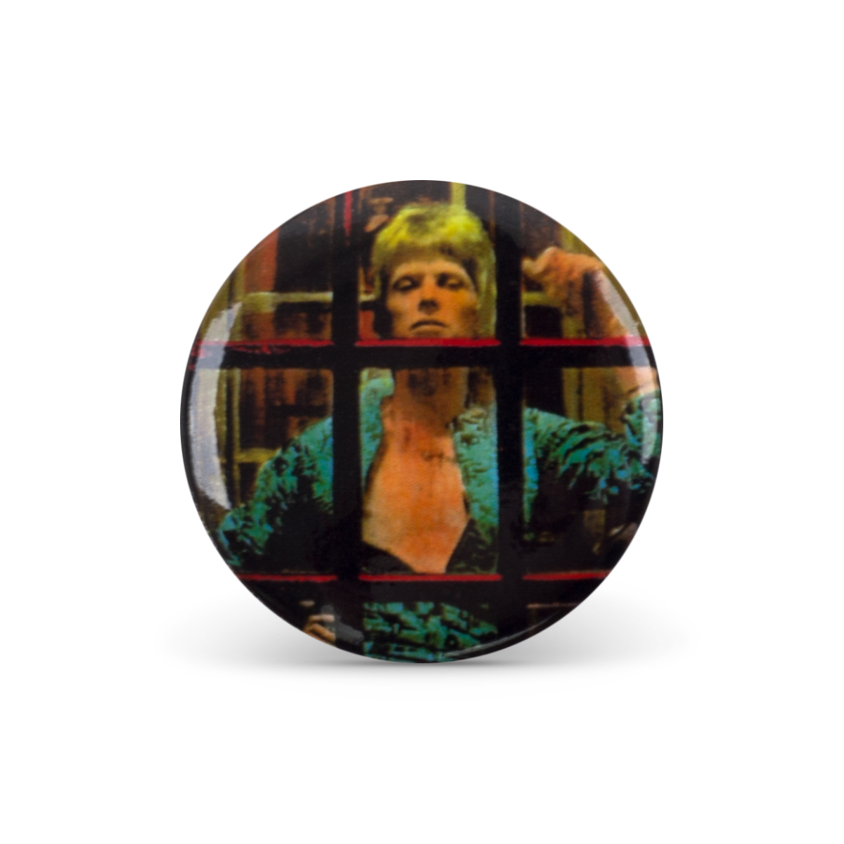 Bowie Booth Button Pin