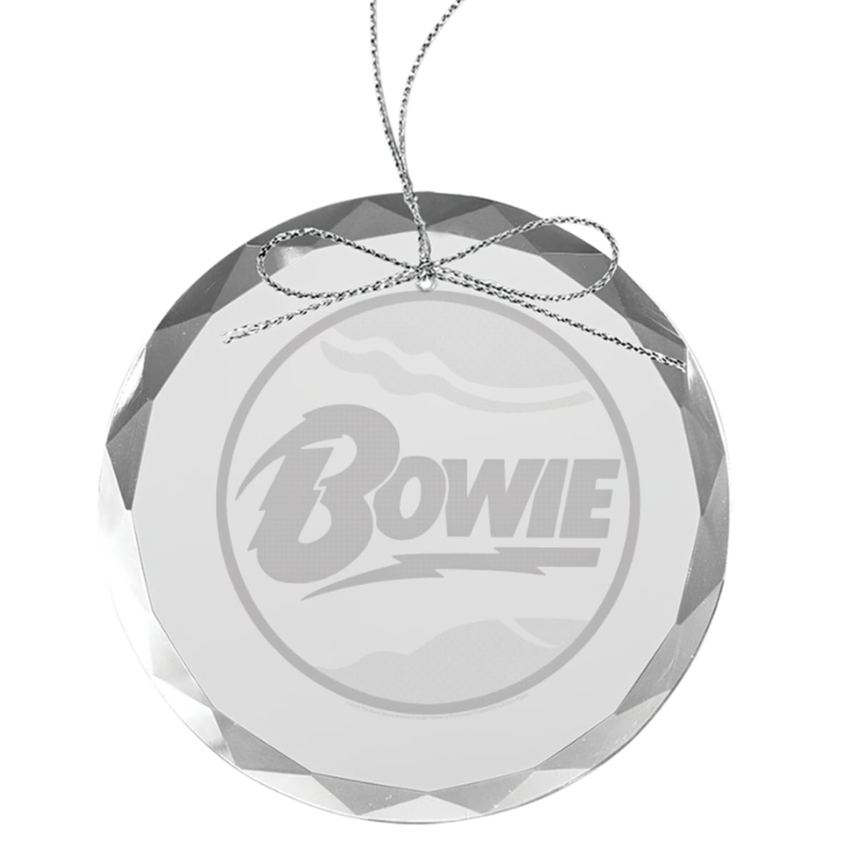 Space Oddity Round Laser-Etched Glass Ornament