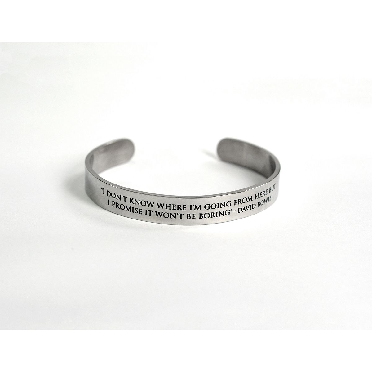 "David Bowie ""I Don't Know Where I'm Going From Here"" Quote Bracelet"