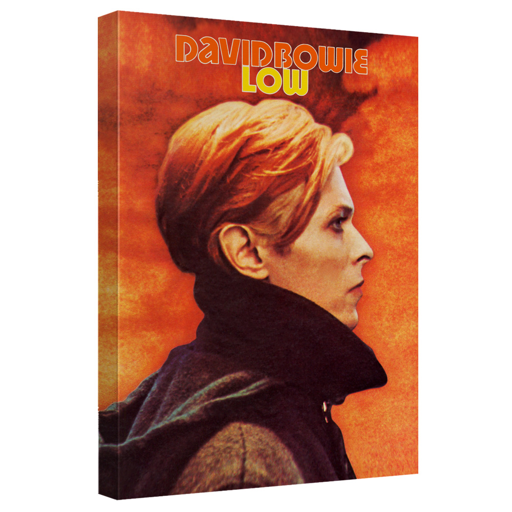 David Bowie/Low-Canvas Wall Art With Back Board - White [20 X 30]