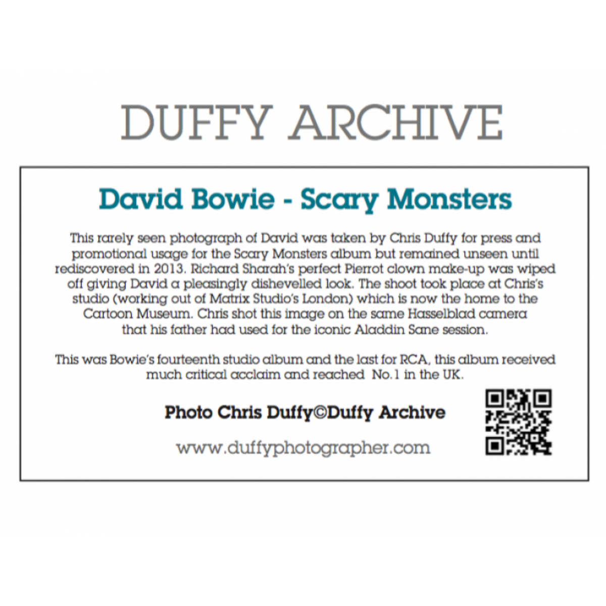 Duffy 'Scary Monster' Print (Mounted, Black)