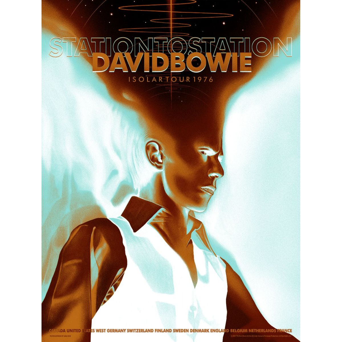 David Bowie 1976 Isolar Tour Poster (Main Edition)
