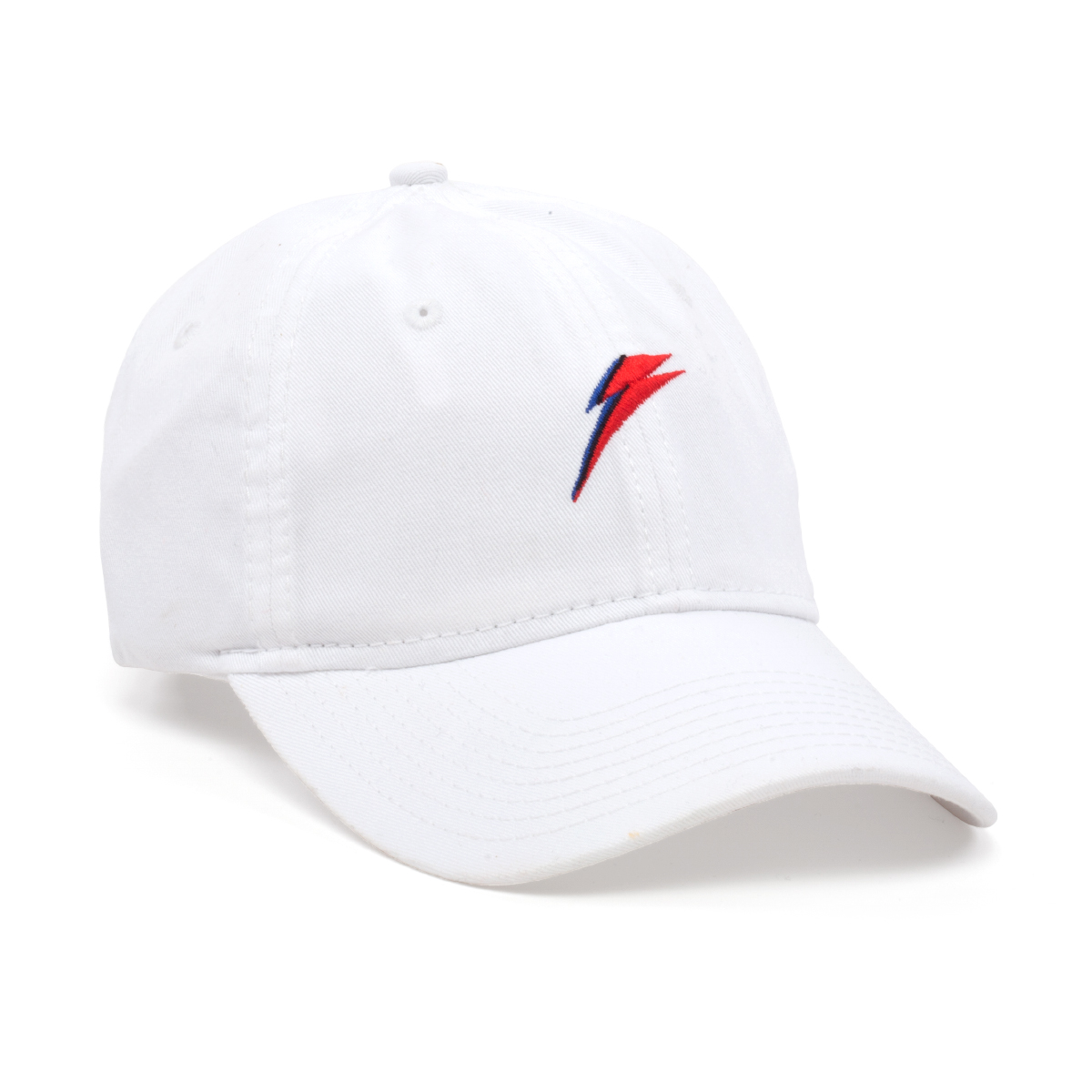 Bowie Lightning Bolt White Hat