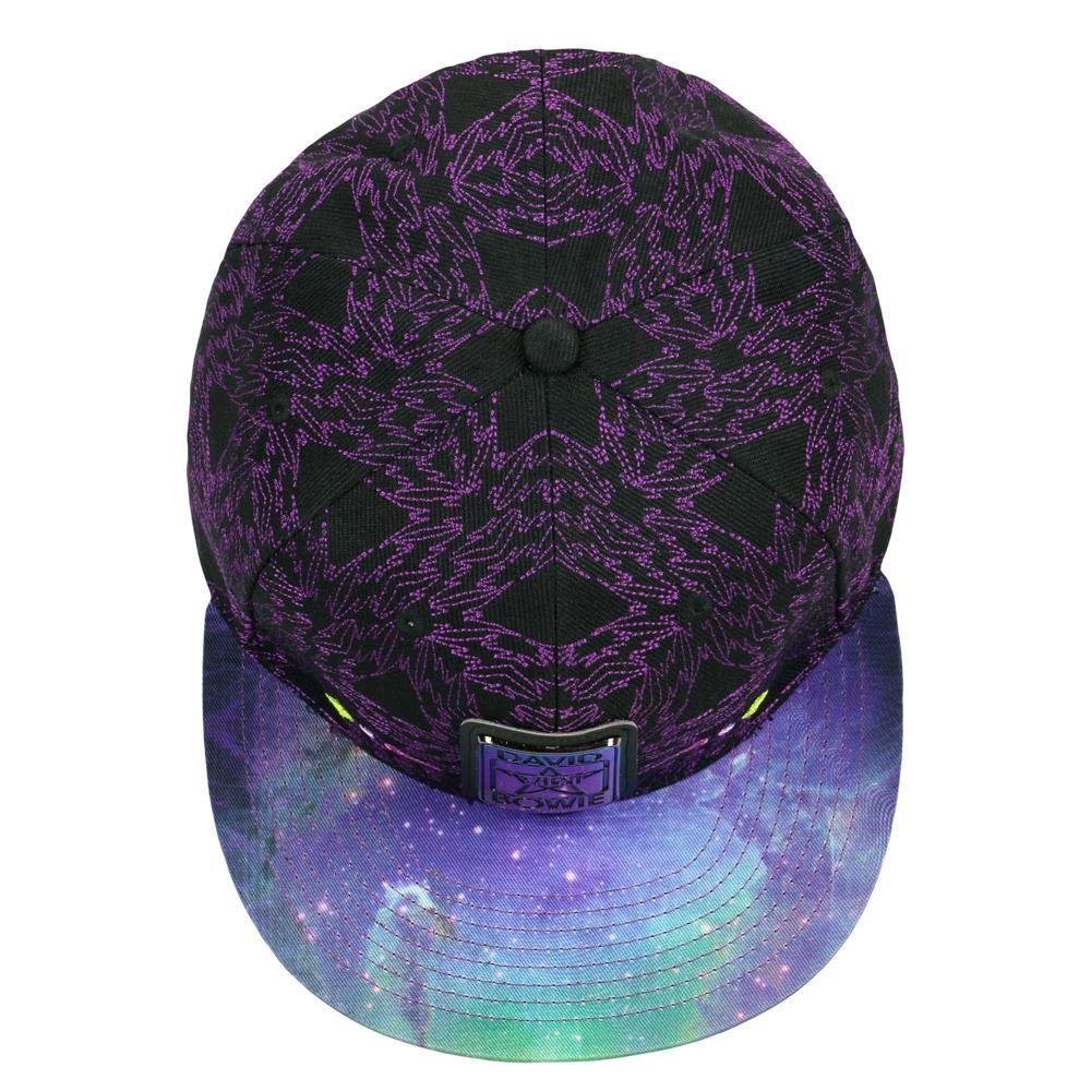David Bowie Purple Galaxy Fitted Hat