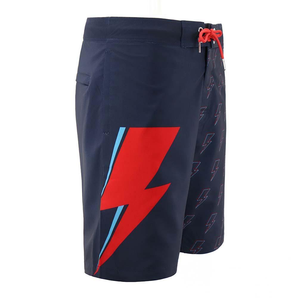 David Bowie Navy Bolt Board Shorts