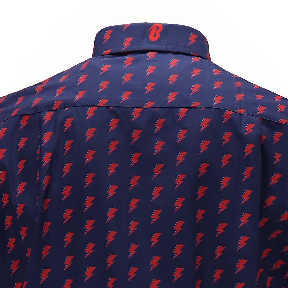 David Bowie All Over Bolt Button Down