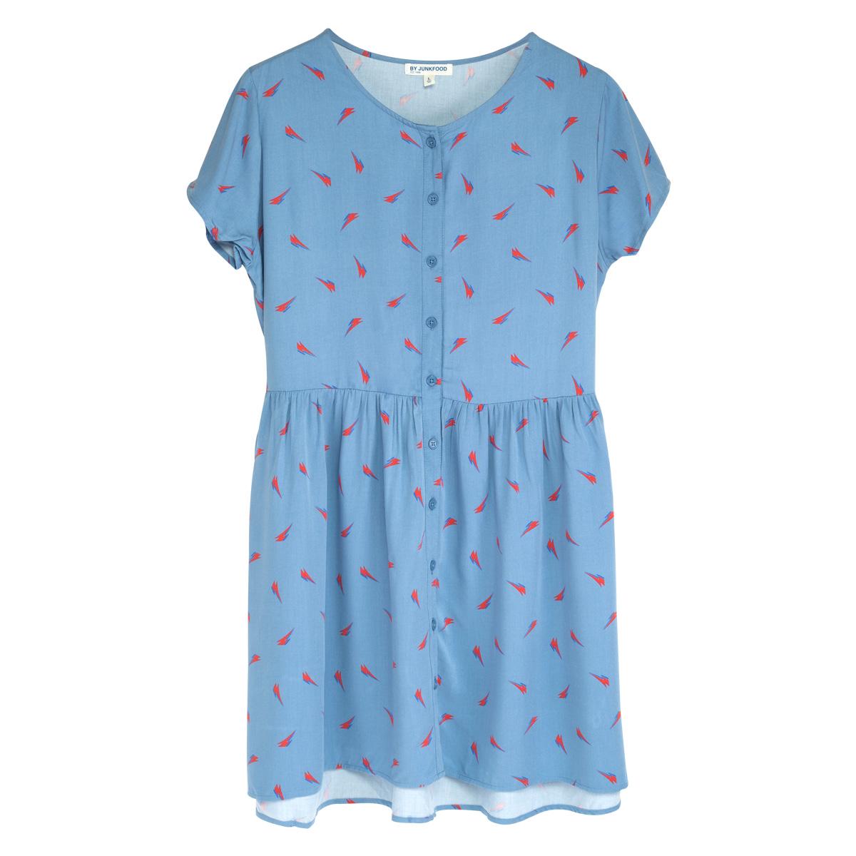 David Bowie Girls Blue Bolt Dress