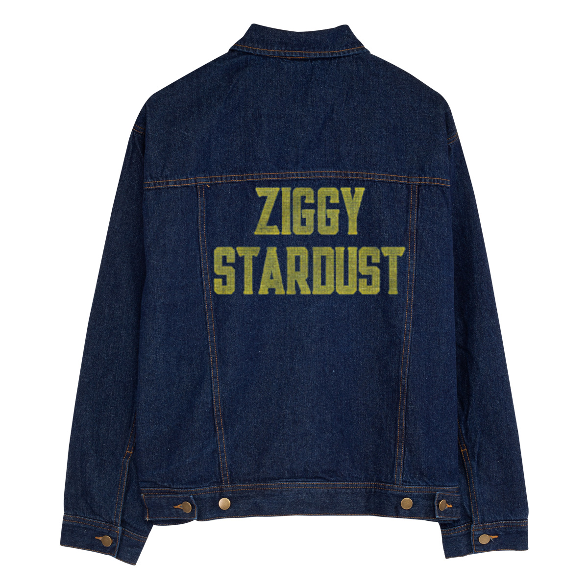 Golden Stardust Personalized Jean Jacket