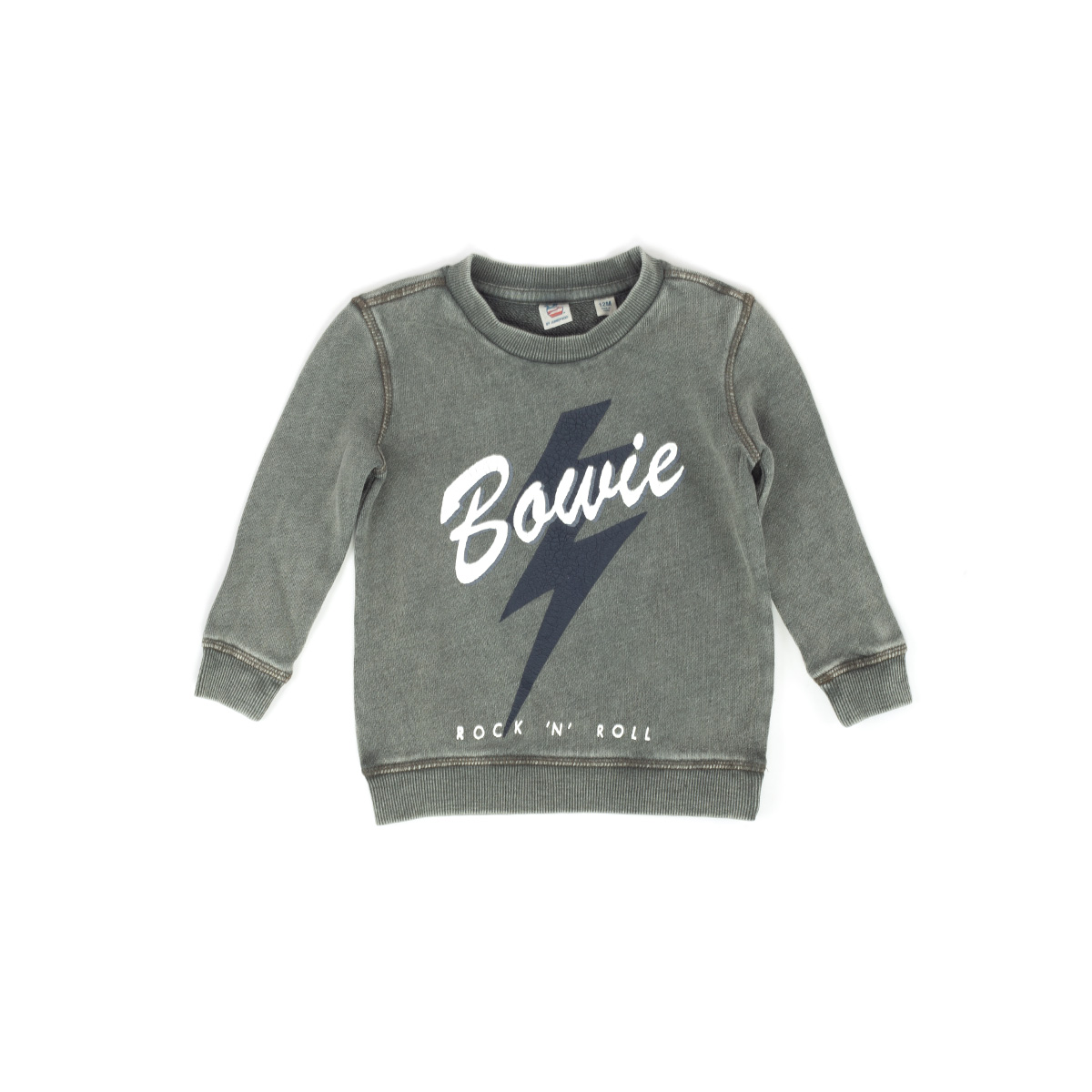 "Kids Olive ""Rock 'N' Roll"" Crewneck"