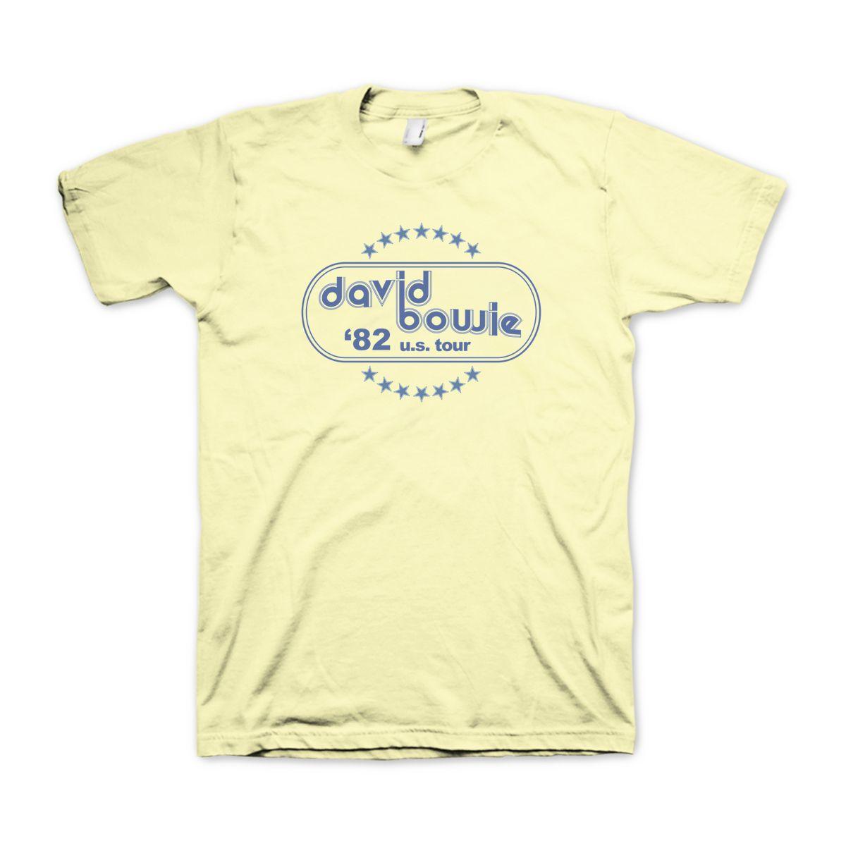 David Bowie '82 US Tour Yellow T-Shirt