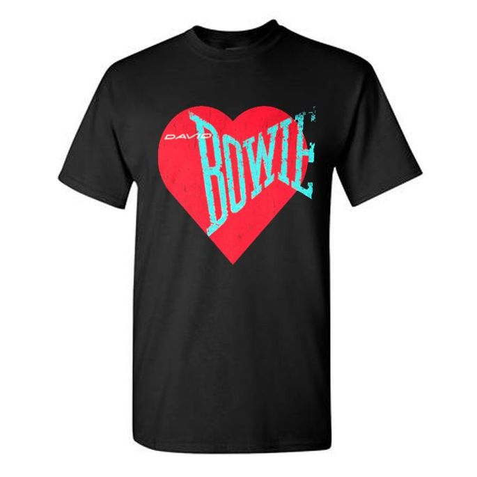 Love Bowie Red Heart T-shirt