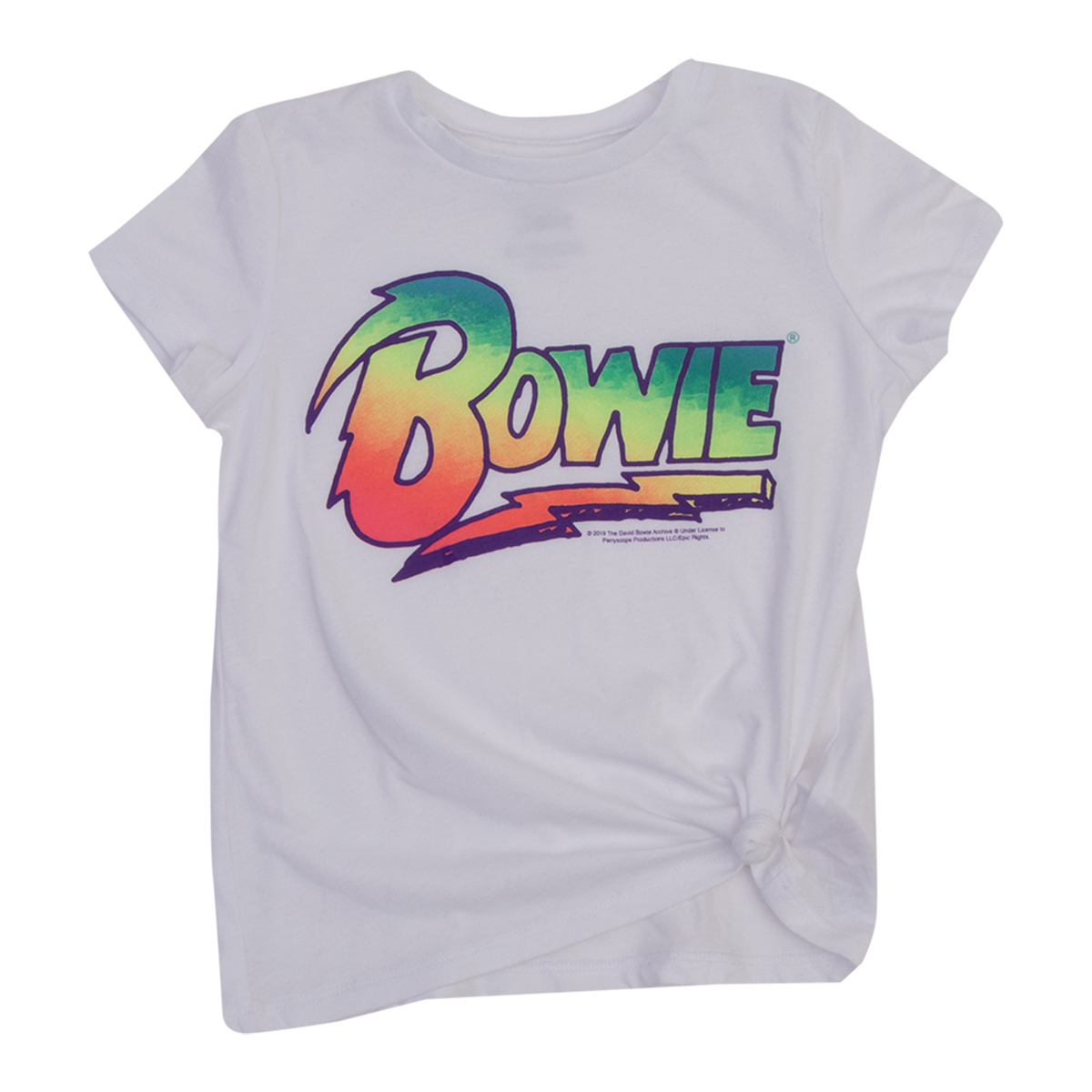 Bowie Rainbow Logo Girls Tee