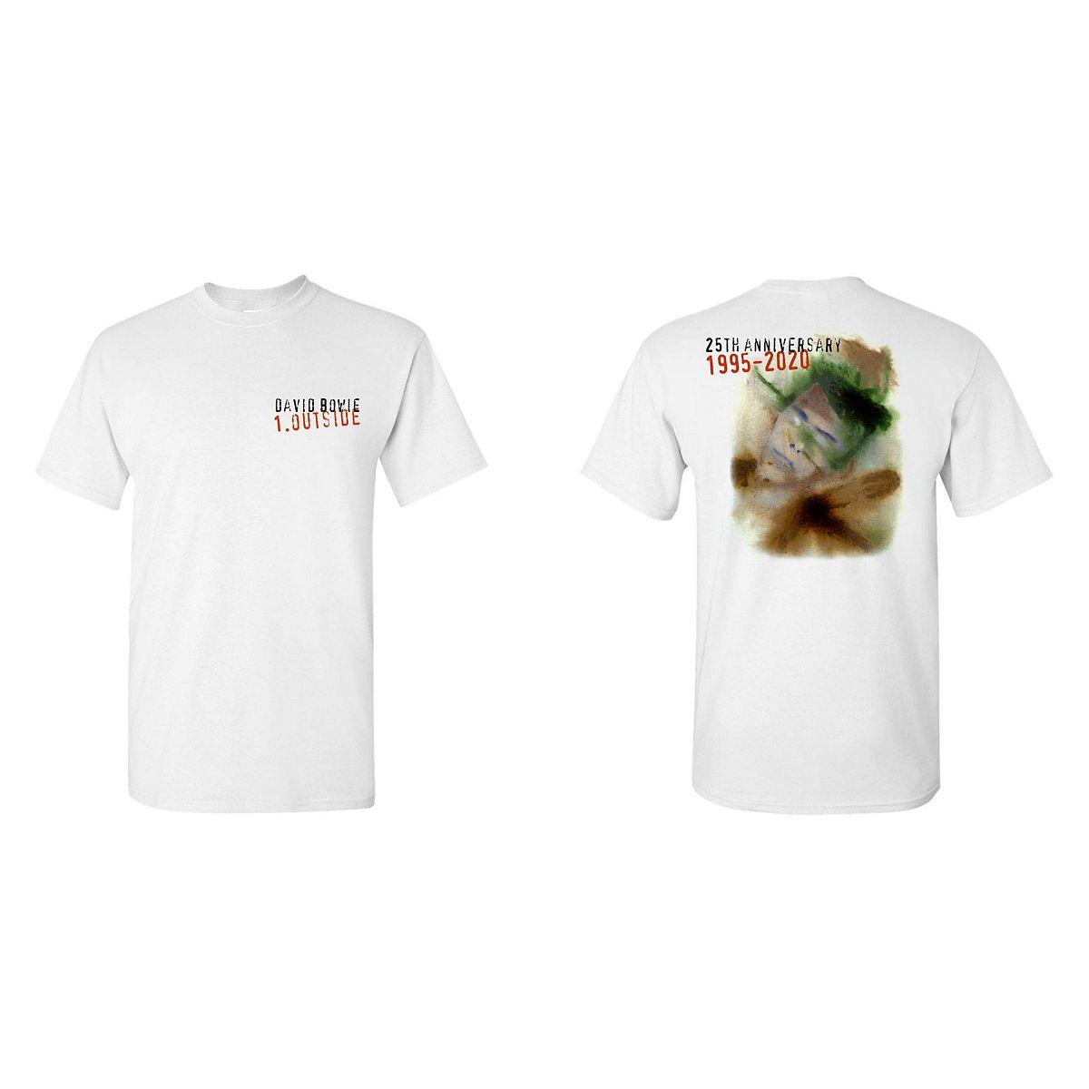 David Bowie Outside 25th Anniversary White T-shirt