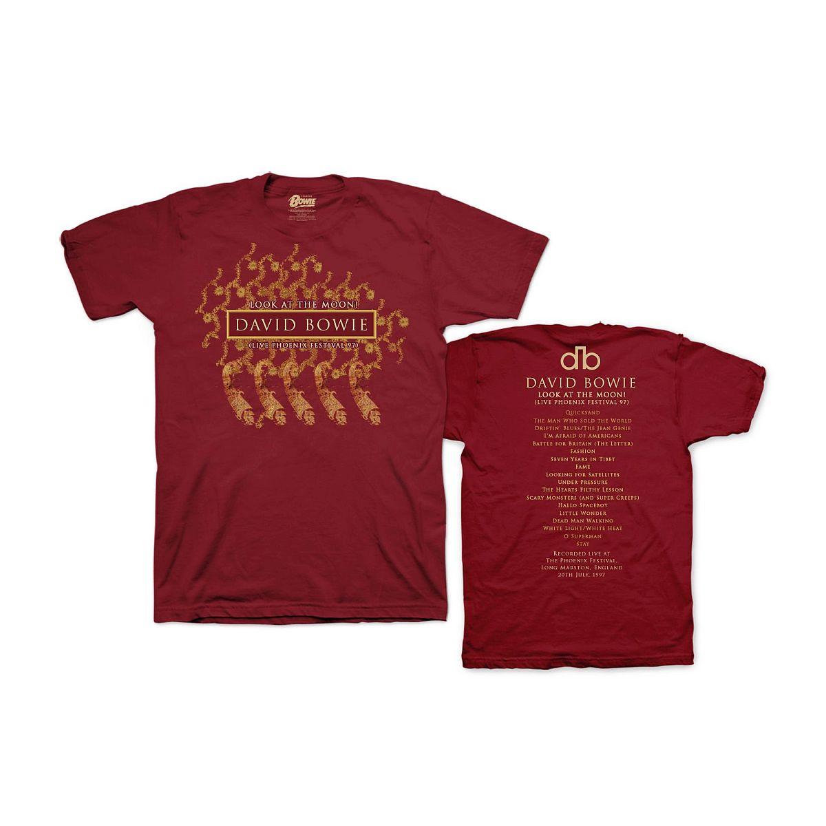 David Bowie Phoenix Festival '97 Cardinal T-shirt