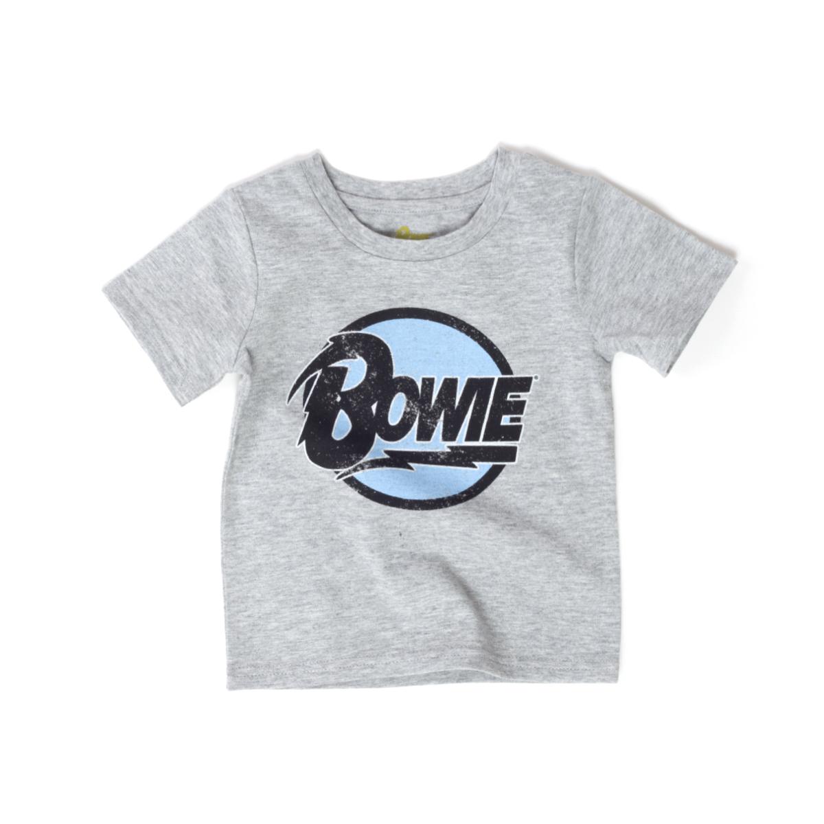 Bowie Circle Logo Grey Kids T-Shirt