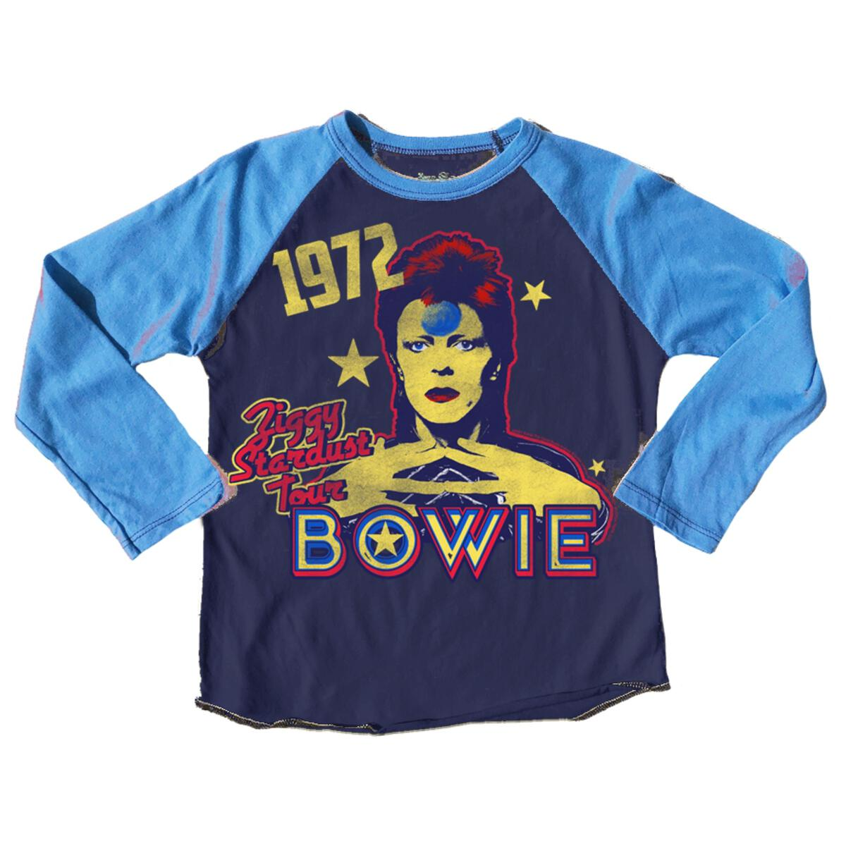 David Bowie 1972 Ziggy Stardust Tour Raglan Tee