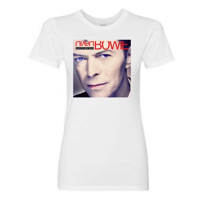 Women's Black Tie White Noise Album Art T-Shirt