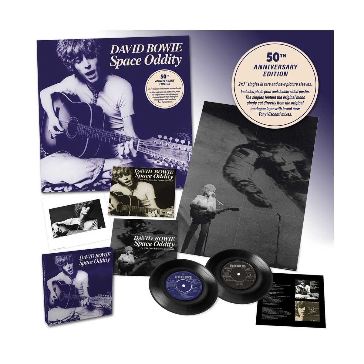 "Space Oddity - 50th Anniversary 2 x 7"" Box Set"