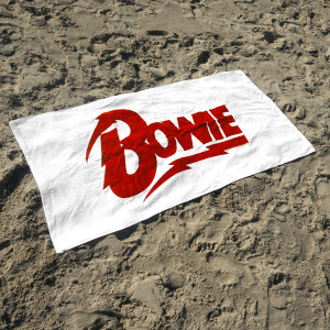 David Bowie Logo Beach Towel