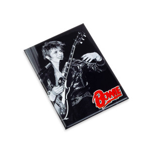 David Bowie Red Flash BW Magnet