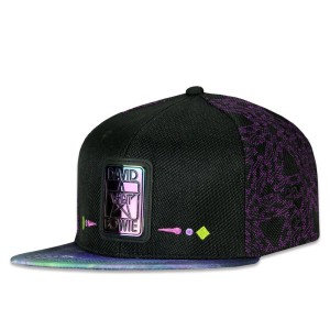 David Bowie Purple Galaxy Snapback Hat