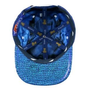 David Bowie Rhinestone Blue Snapback Hat
