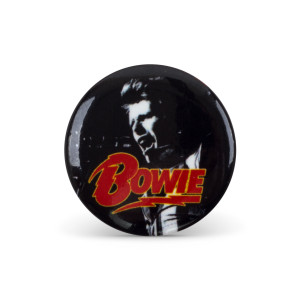 Bowie B&W Button Pin