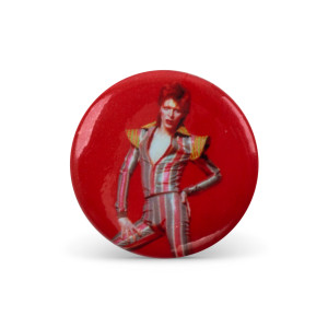 Bowie Stare Button Pin