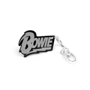 David Bowie Name Logo Keychain