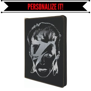 Aladdin Sane Leather Laser Engraved Portfolio